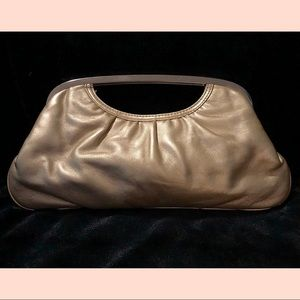 Express Faux Leather Gold clutch